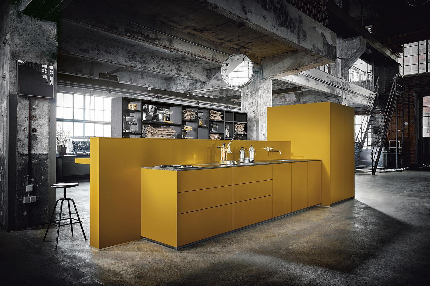 Cuisine unique moderne design épurée industriel allemand sur mesure haut de gamme