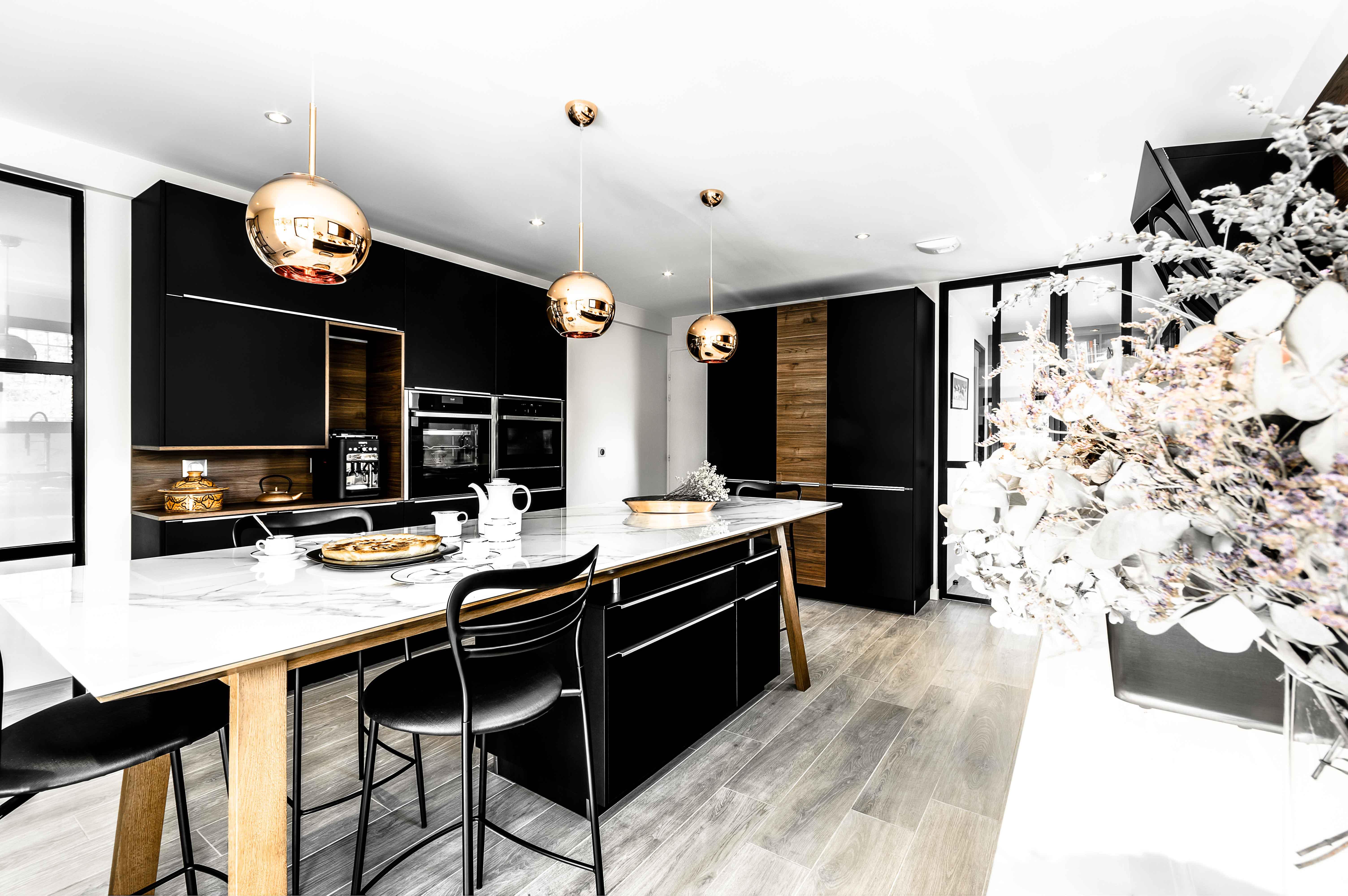 grande cuisine scandinave sur annecy moderne et nordique réalisation conception sur mesure