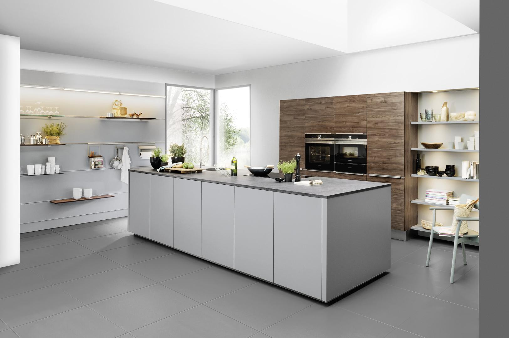 cuisine épurée design moderne contemporain avec îlot central