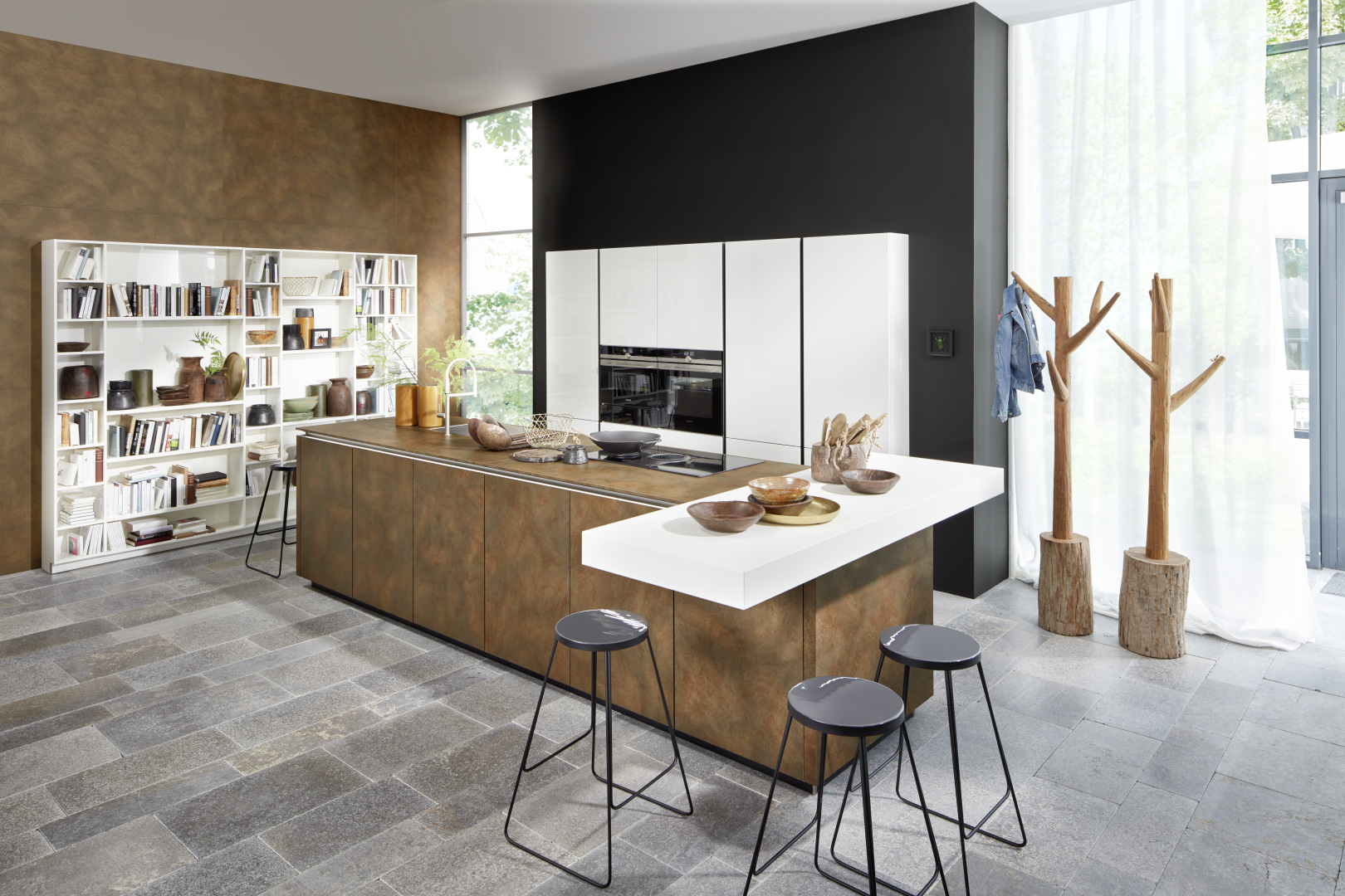 Jolie cuisine moderne installée par cuisiniste annecy littoz