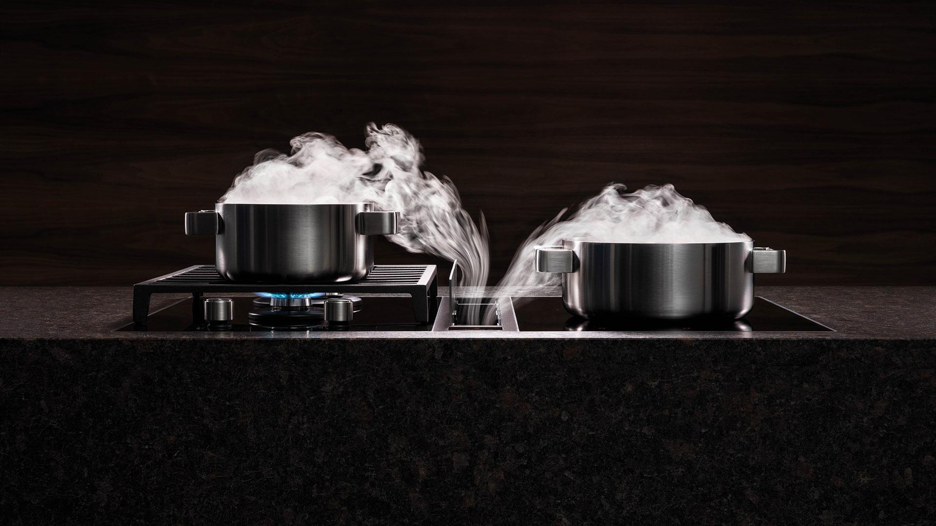 aspiration cuisson des aliments au gaz ou électrique vitrocéramique