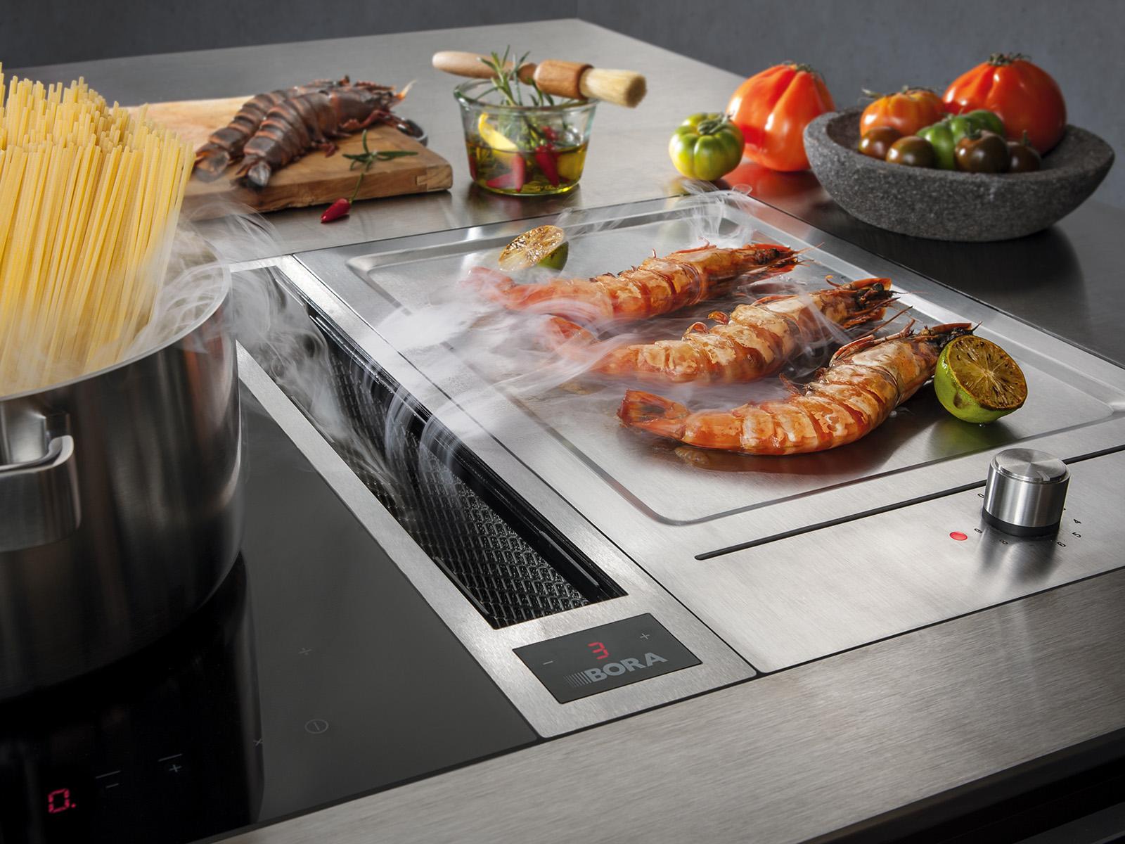 Bora spécialiste des hottes aspirantes pour cuisines modernes haut de gamme design contemporain épuré unique