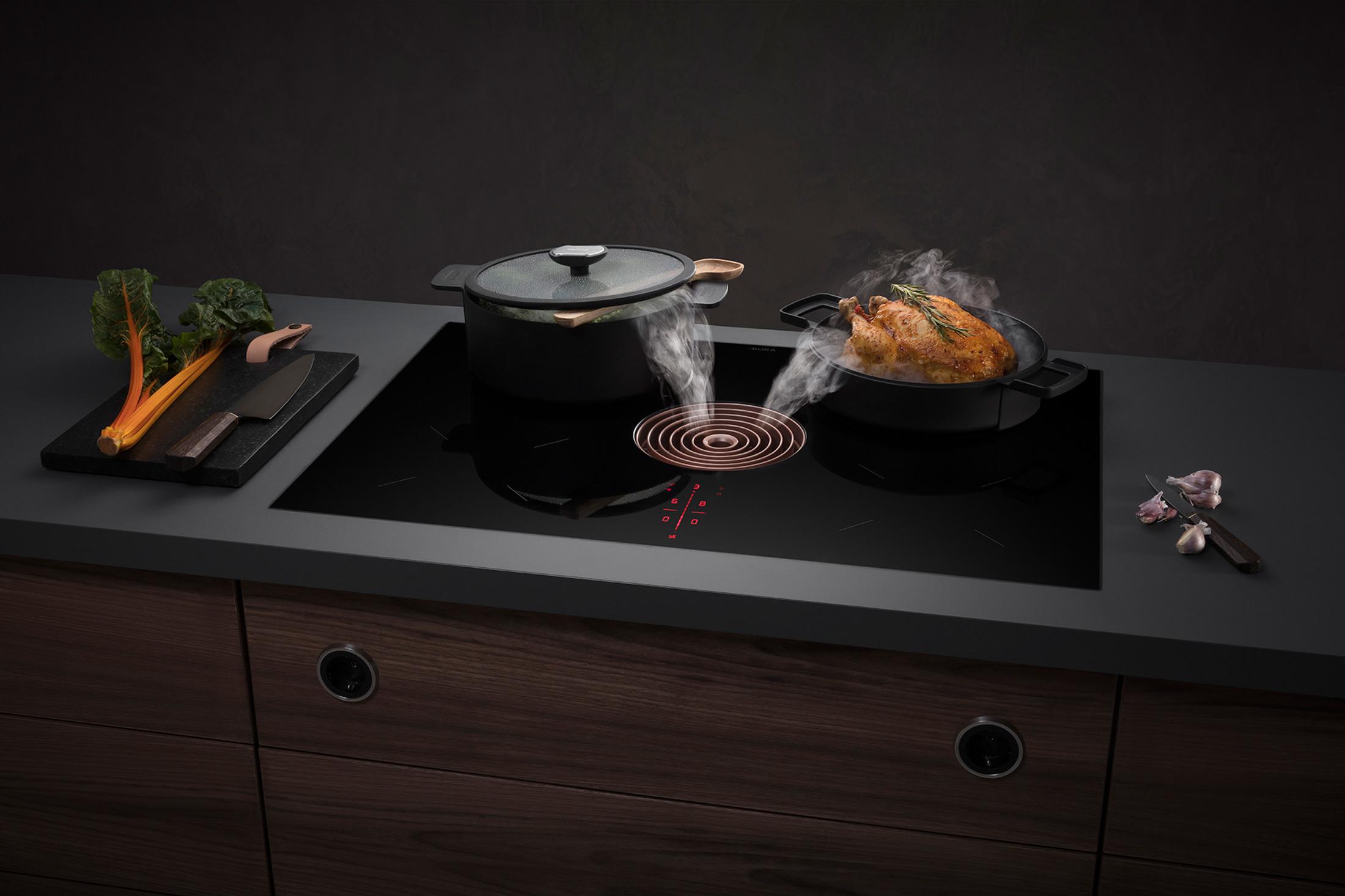 Système d'aspiration pour table de cuisson argonay Littoz