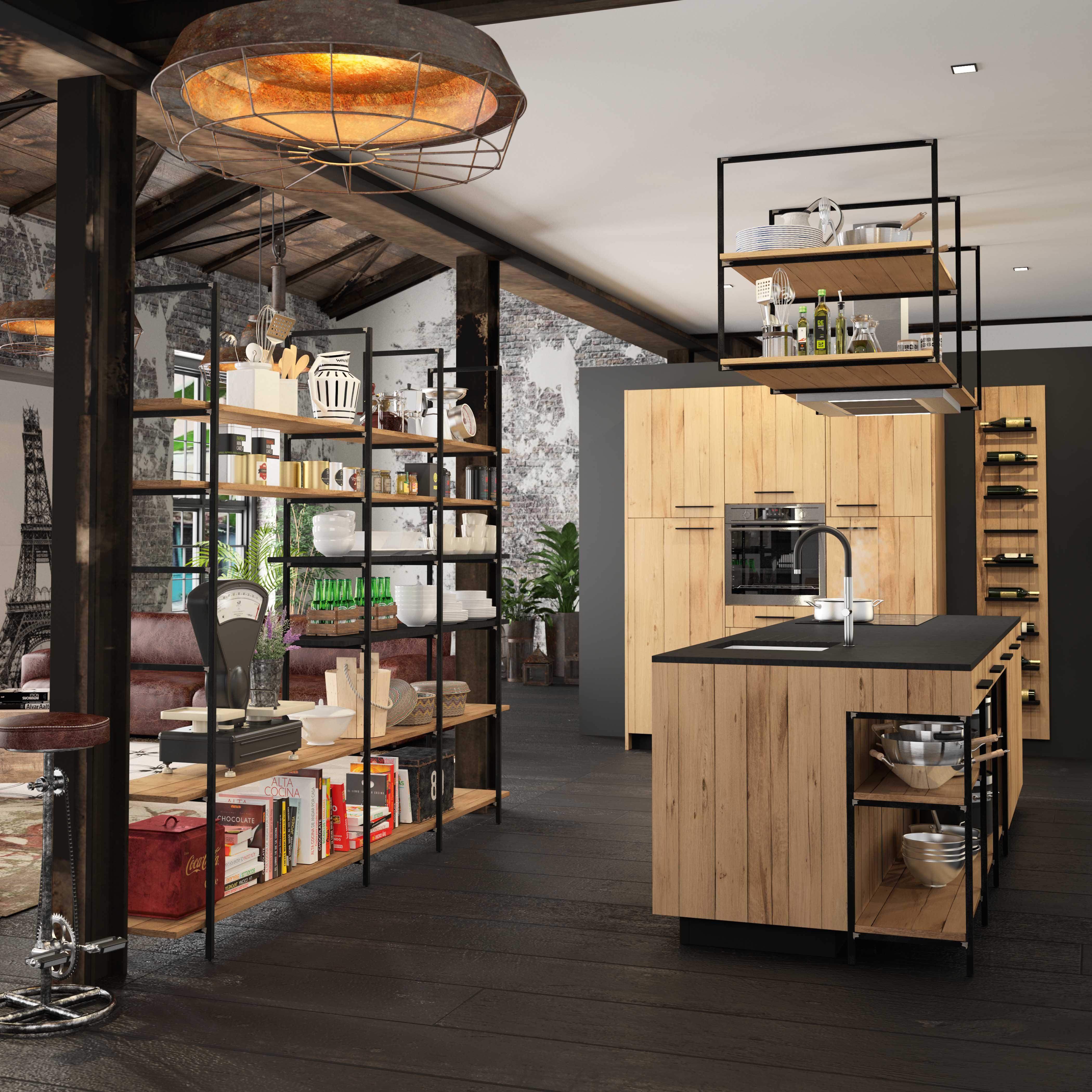 Esquisse design industriel interieur littoz - Cuisine morel ...