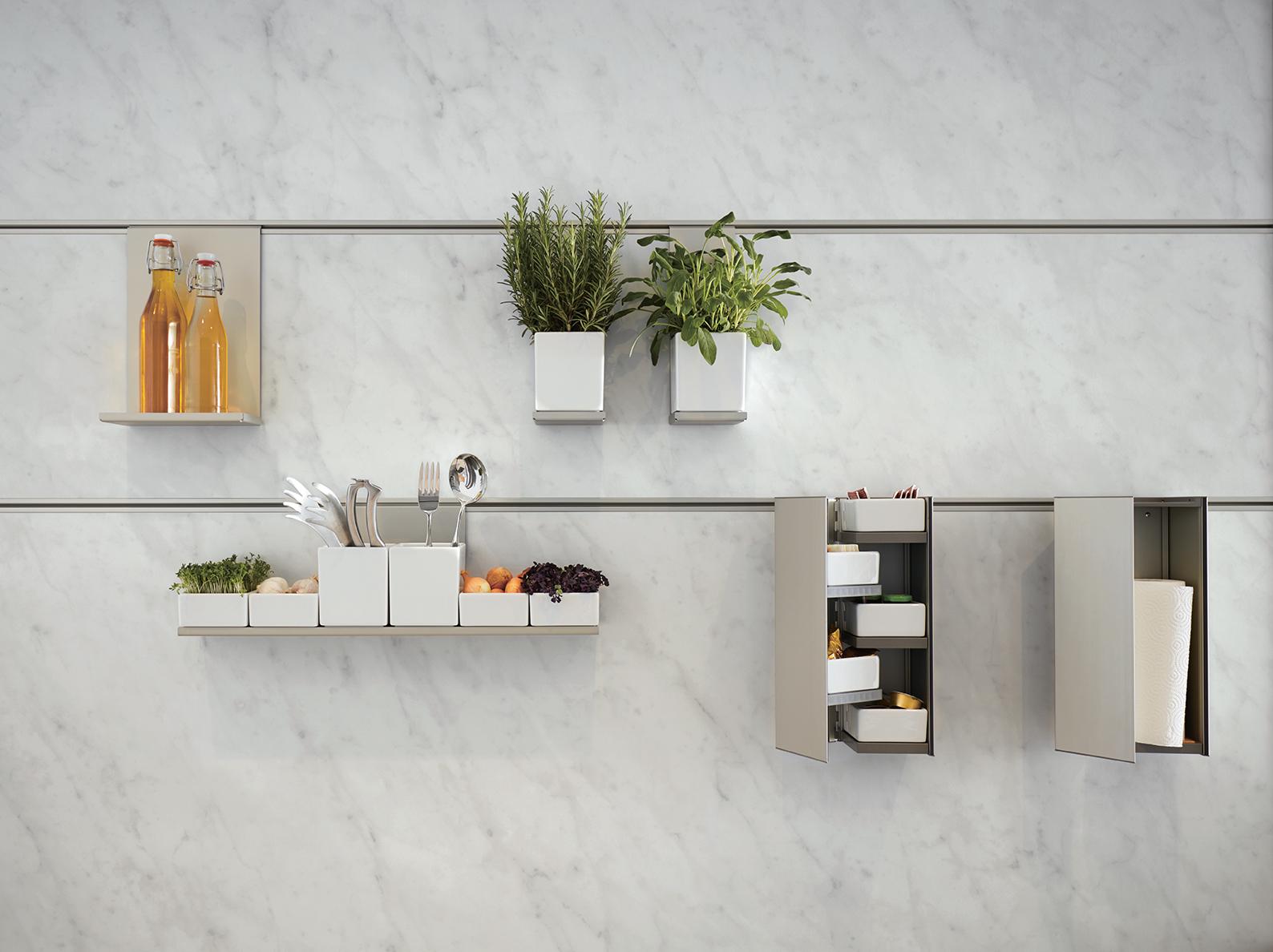 mur en marbre blanc pour cuisine moderne