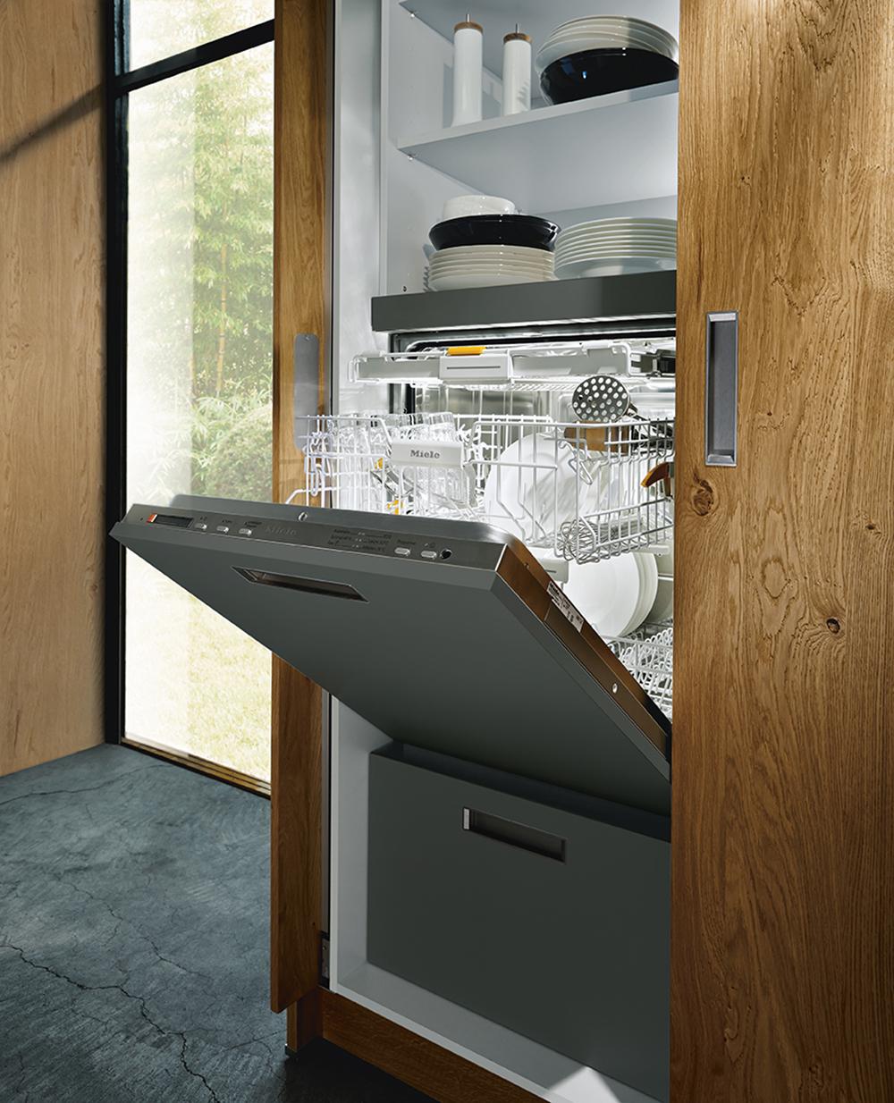 électroménager intégré avec lave vaisselle moderne chic haut de gamme