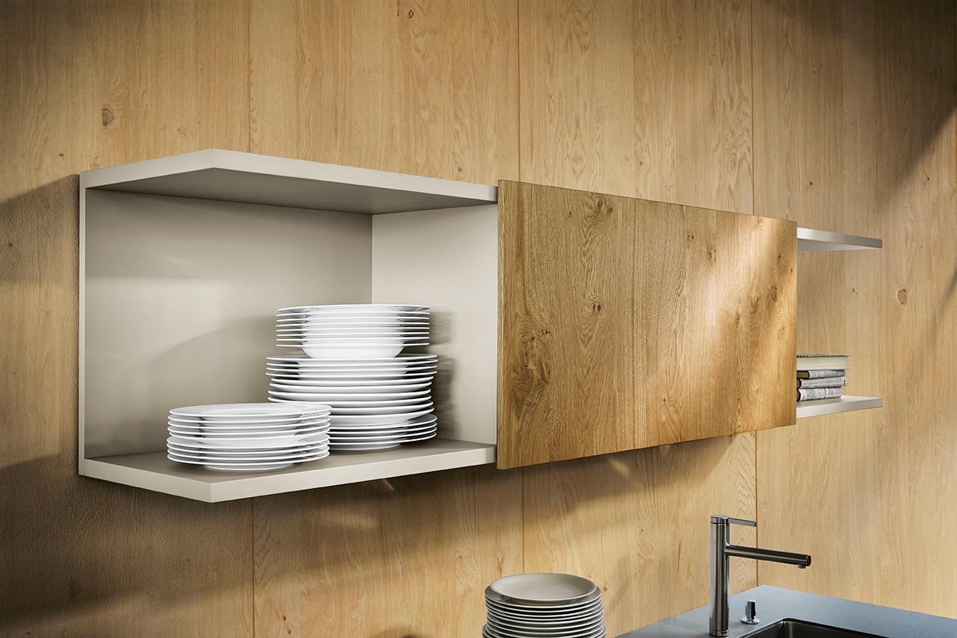 étagère et rangement en bois pour cuisine moderne ultra chic et haut de gamme