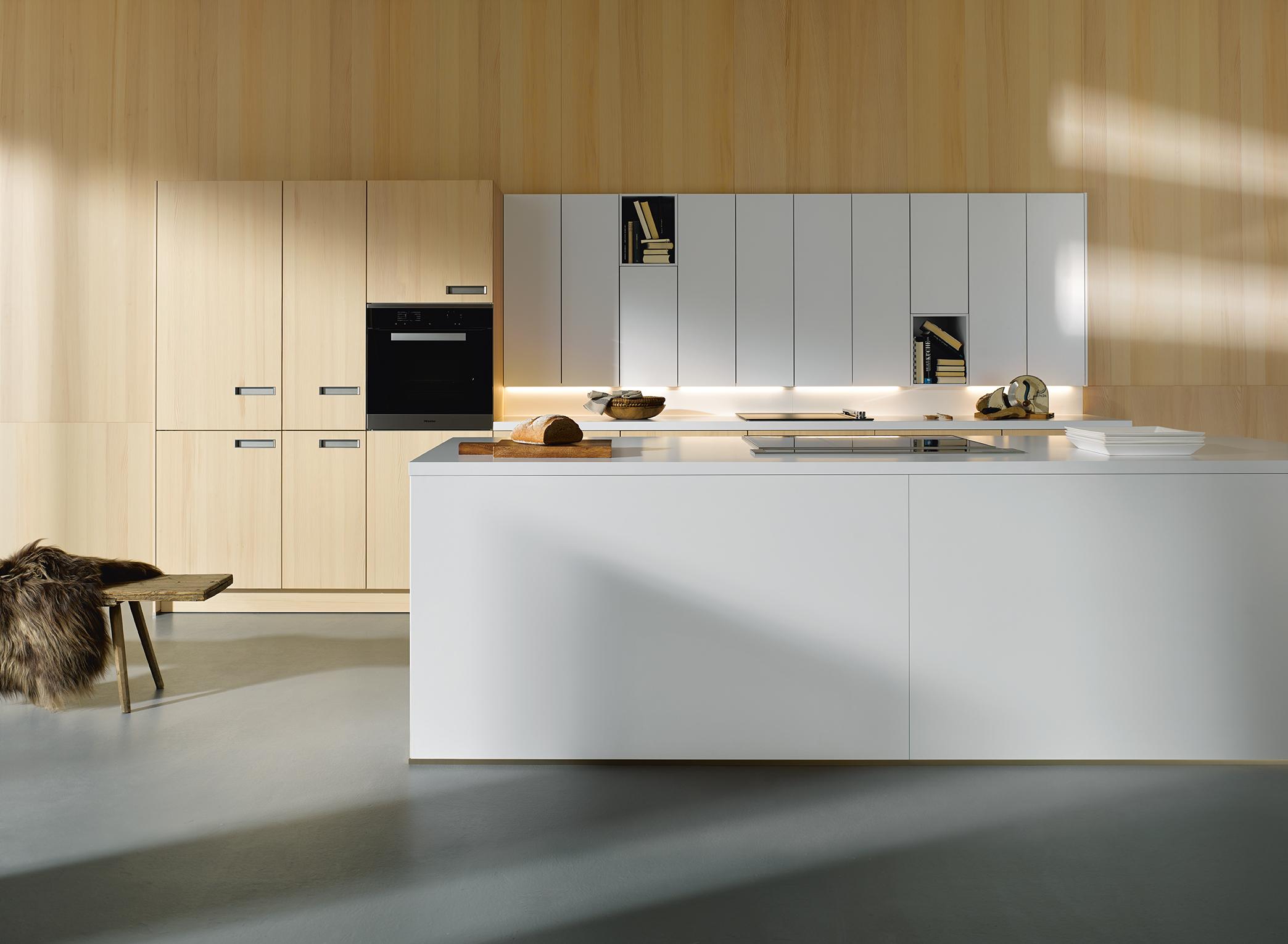 cuisine ouverte style moderne épuré haut de gamme next 125 sapin