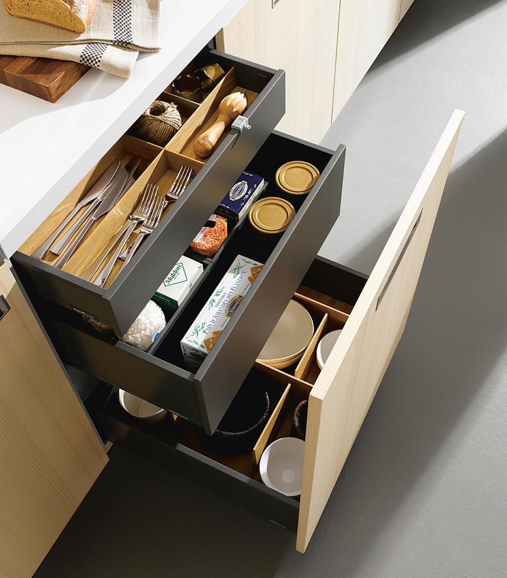 Rangement ameublement pour cuisine intégrée moderne chic et moderne haut de gamme