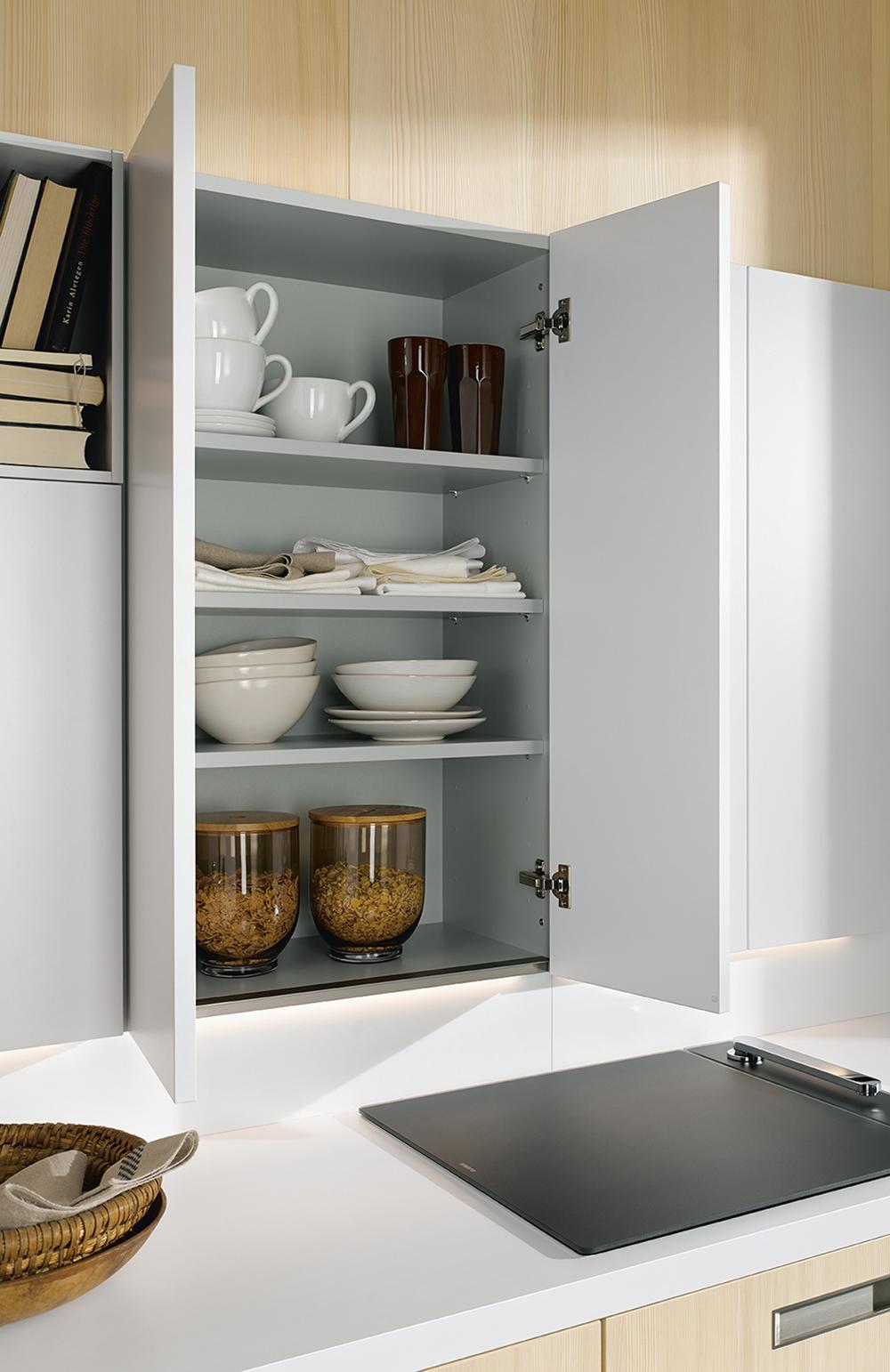 Meubles pour cuisine aménagée intégrée blanche moderne contemporaine
