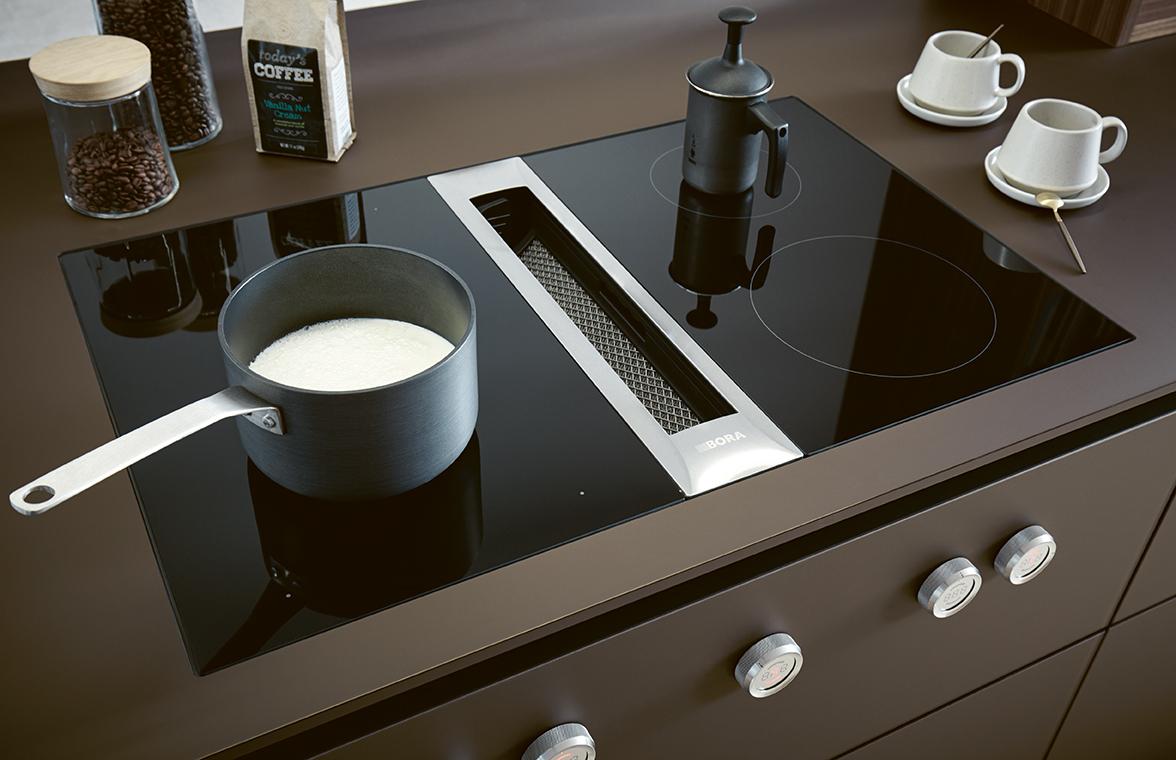 Cuisine intégrée haut de gamme annecy Next 125 table et plaques de cuisson
