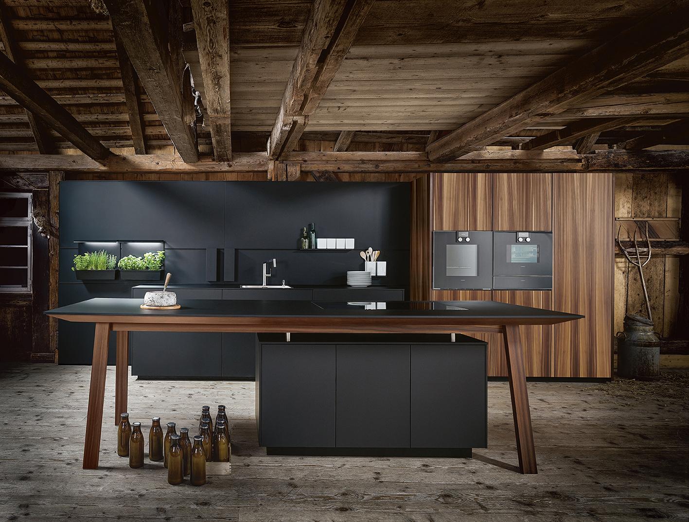Photo parfaite cuisite équipée charme nordique et modernité projet sur mesure cuisiniste annecy