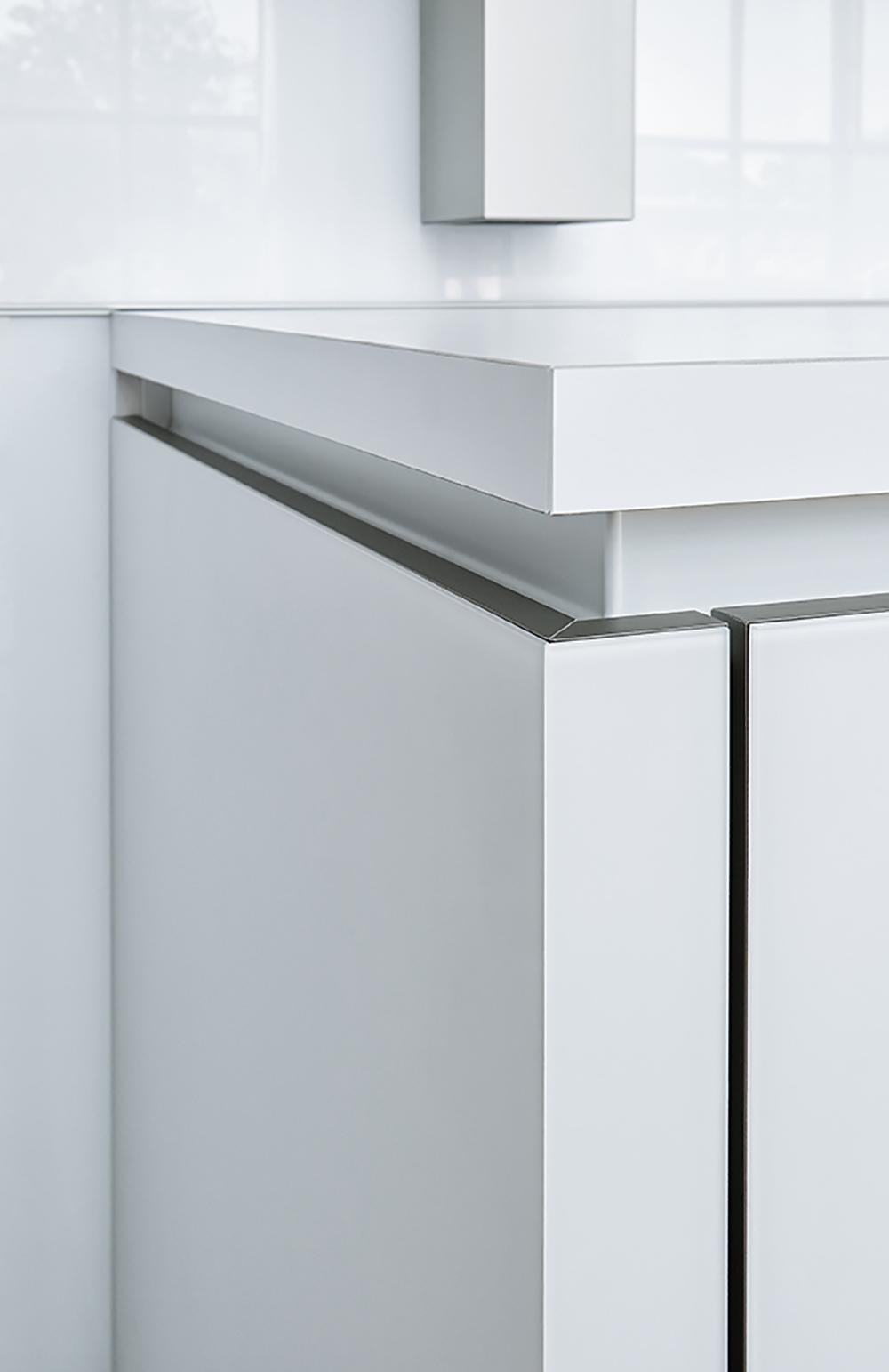 rangement blanc tiroir pour cuisine équipée moderne
