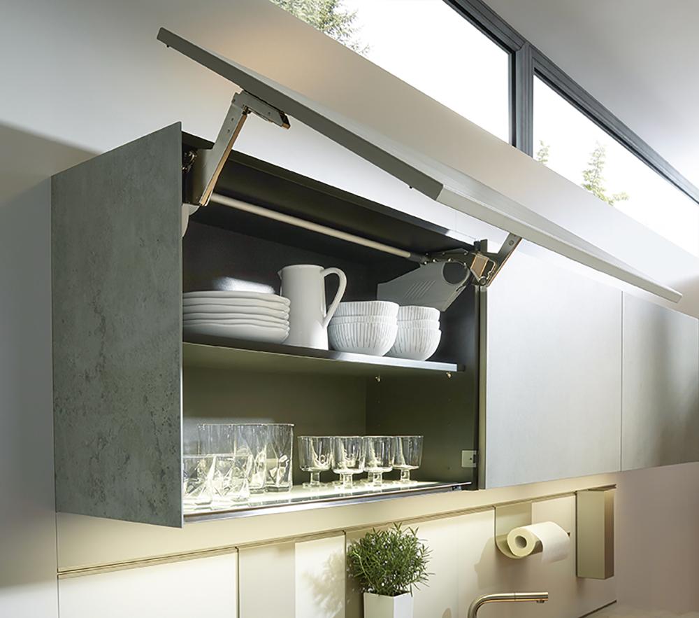 Rangement meuble de cuisine équipée Next 125 gris épuré