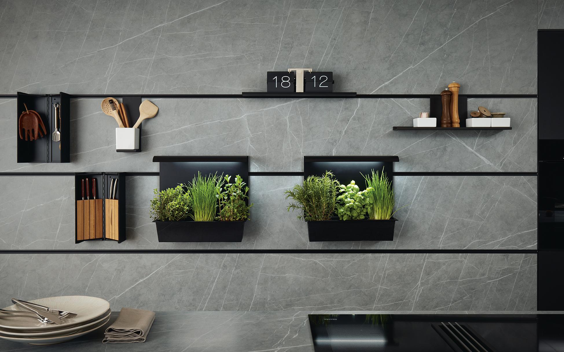 étagère pour cuisine sur mesure moderne travaillée et épurée marque Next125