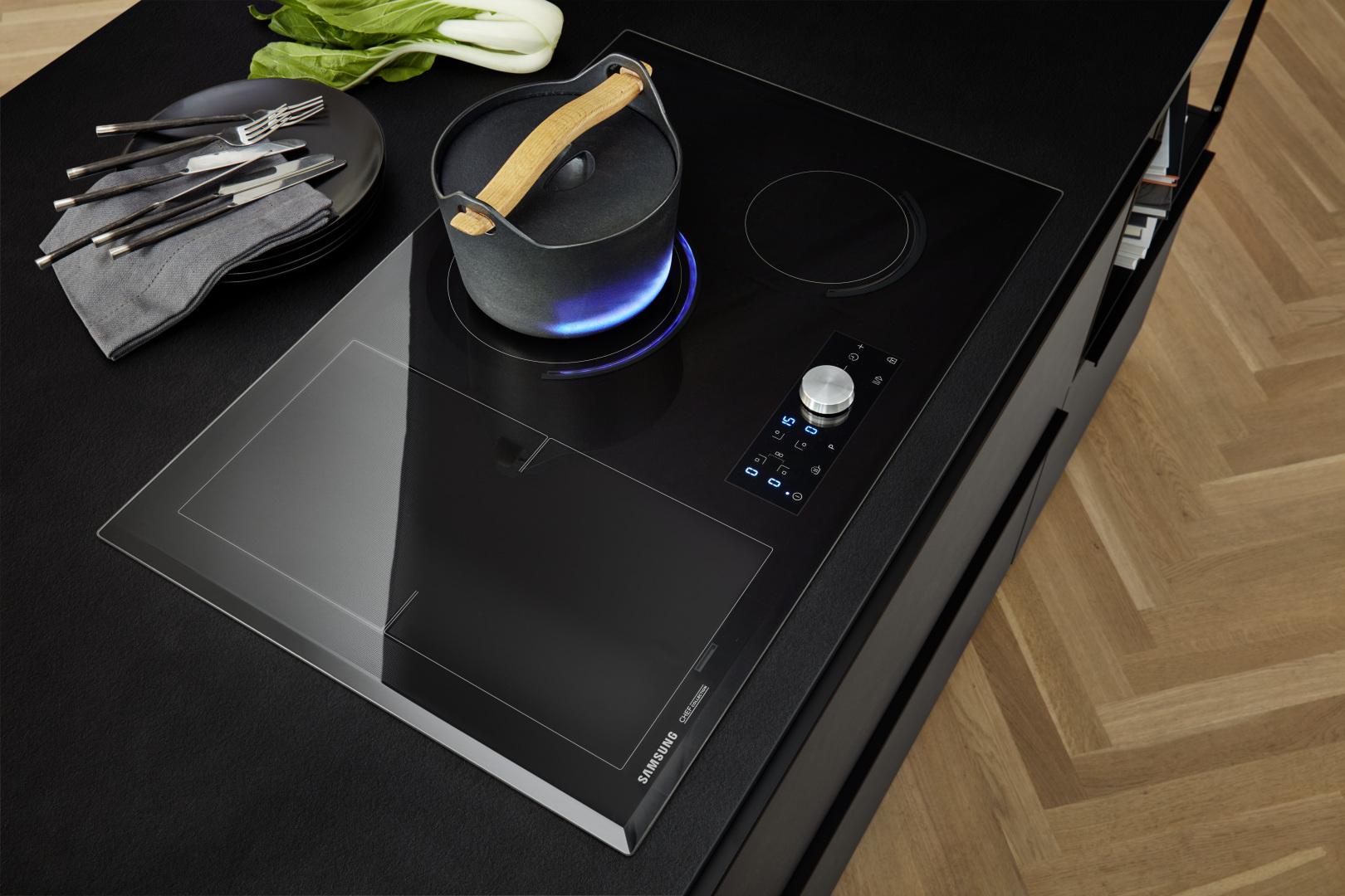Plan de table de cuisson vitrocéramique noir