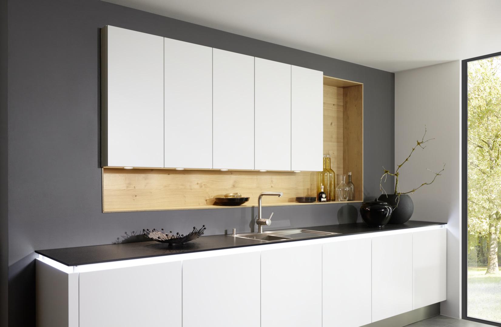 Rangement et aménagement cuisiniste haut de gamme blanc moderne unique