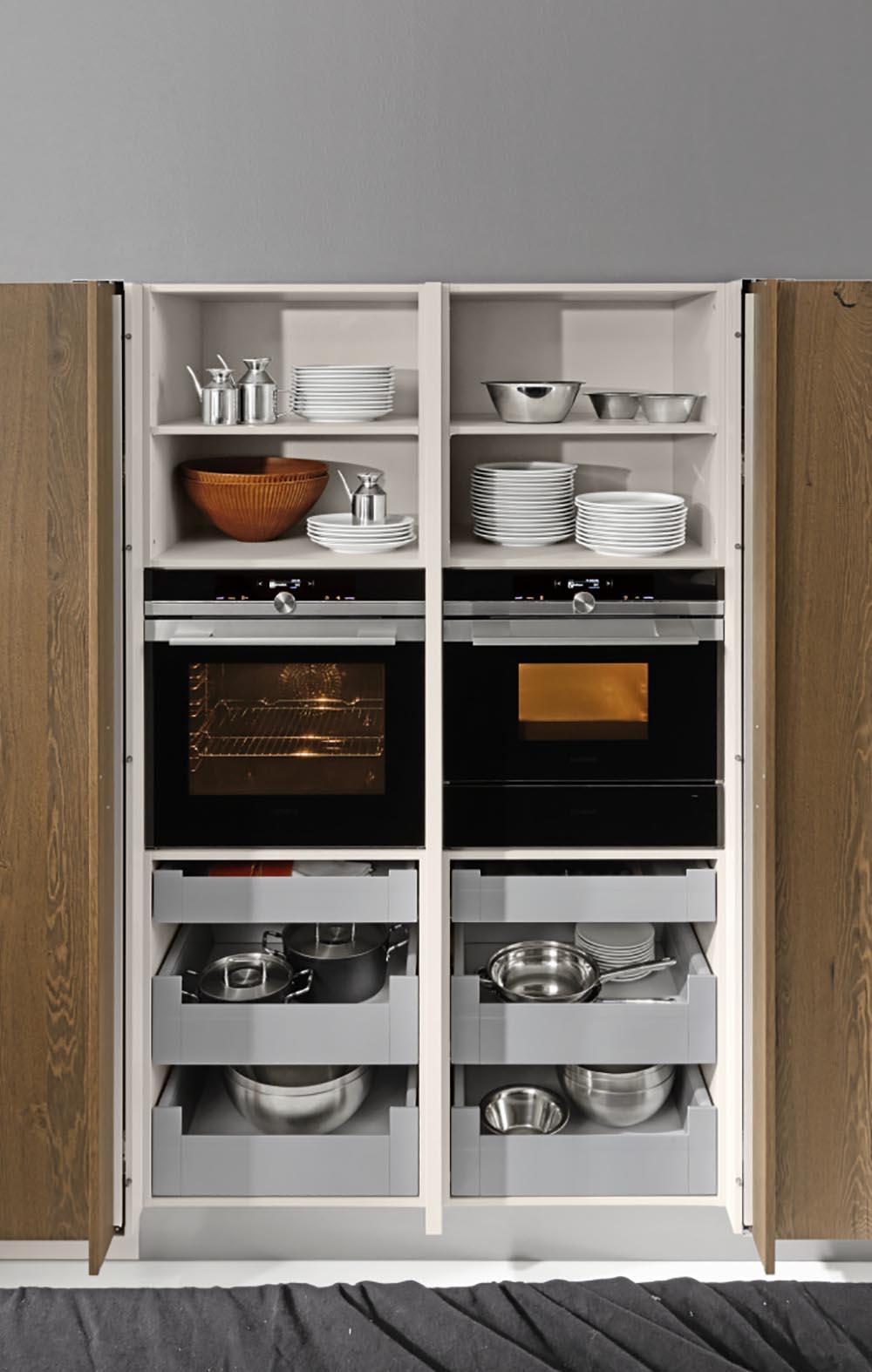 Rangements meuble électroménager de la cuisine unique fonctionnel ergonomie