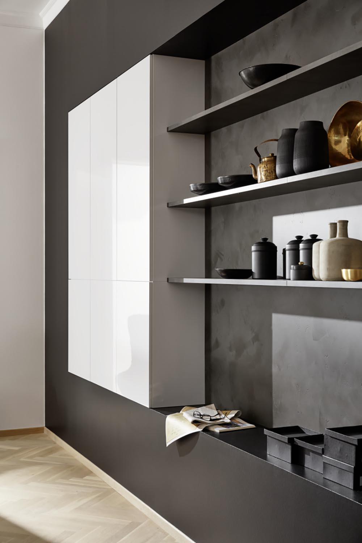 aménagement et meubles rangement épurés moderne ambiance intérieur unique