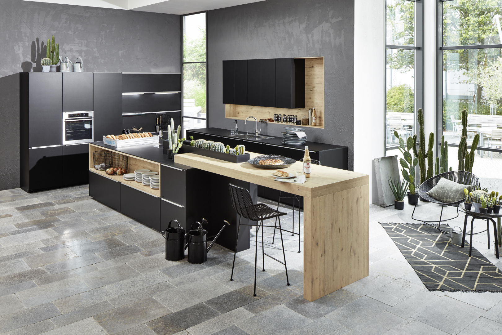 Cuisine haut de gamme moderne ultra design de style industriel et scandinave littoz annecy
