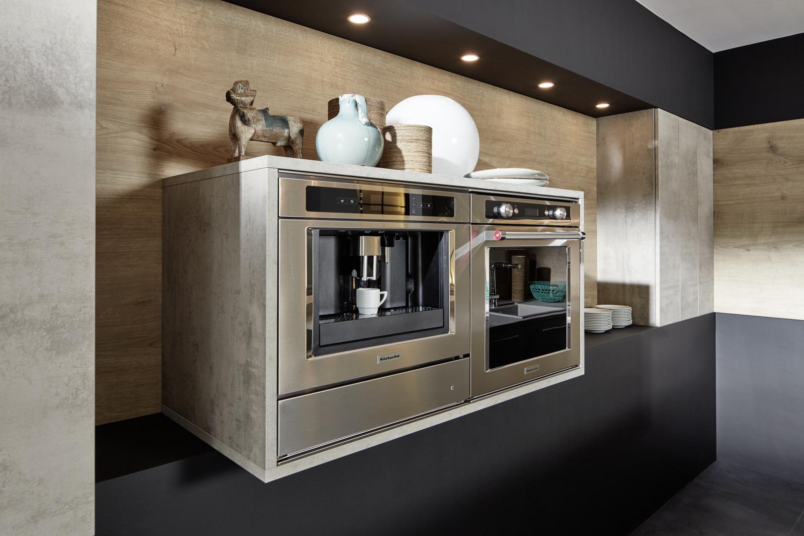 électroménager cuisine épuré nique sur mesure annecy design industriel moderne