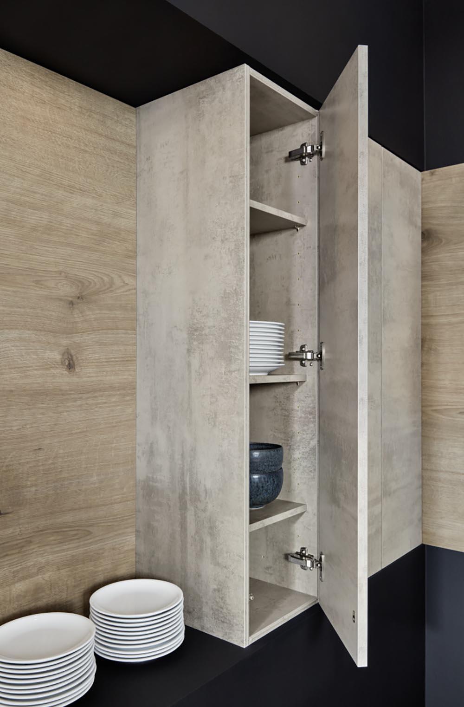 rangement pour intérieur style béton design industriel pour cuisine annecy