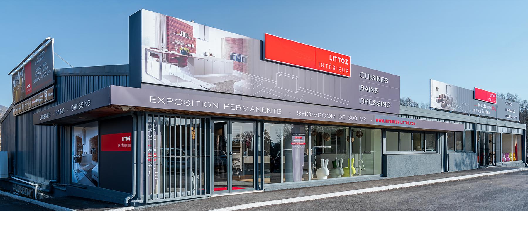 Intérieur Littoz Showroom magasin exposition aménagement cuisines Annecy