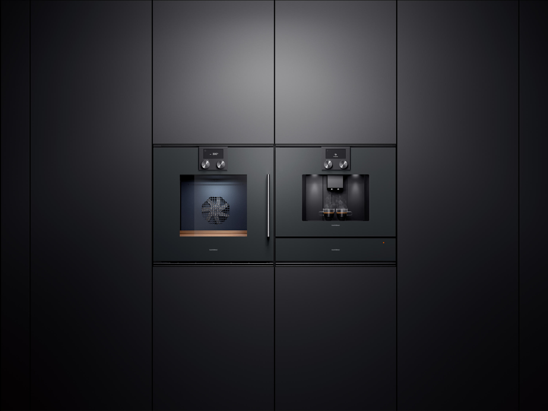 machine à café et four cuisine moderne Gaggenau Annecy