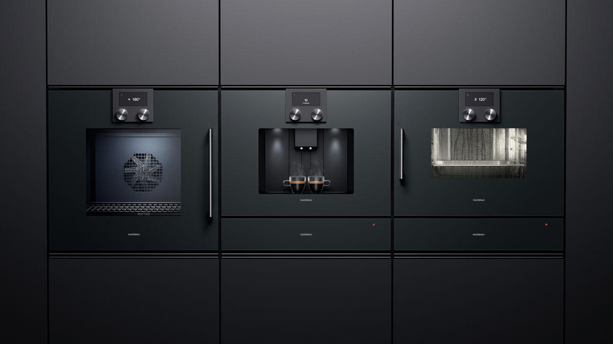 électroménager Gaggenau design moderne et épuré complètement intégré dans la cuisine