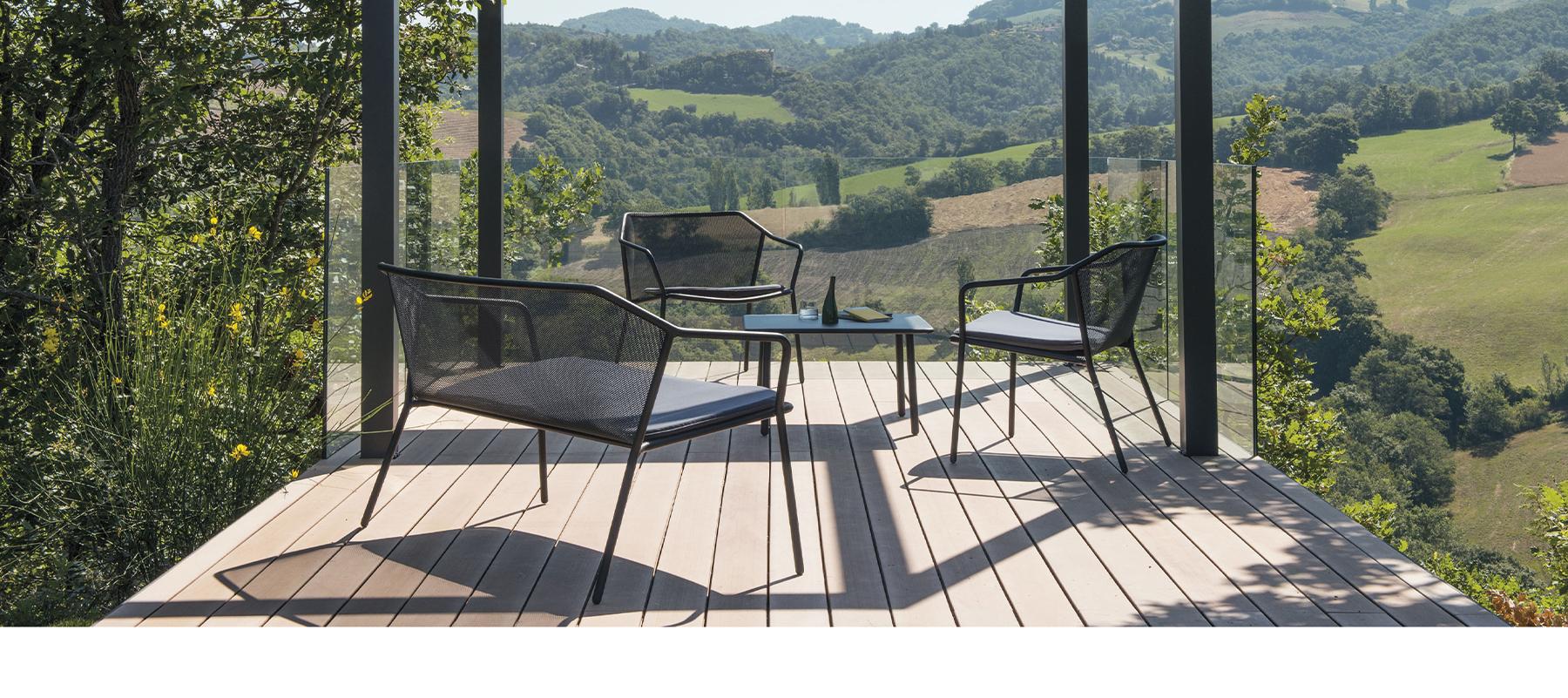 mobilier extérieur design haut de gamme et moderne sur annecy